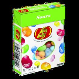 Ассорти Jelly Belly со вкусом кислых фруктов в коробке 50 гр