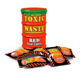 Конфеты Toxic Waste Candy красная банка