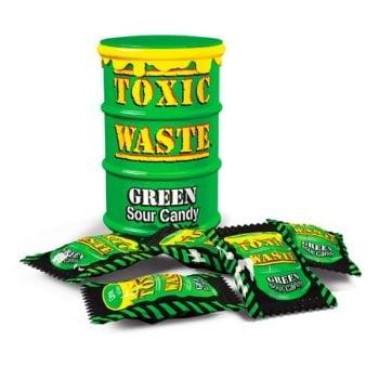 Конфеты Toxic Waste Candy зеленая банка