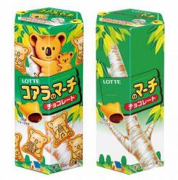 Печенья коала Lotte, с шоколадной начинкой, 50 г.