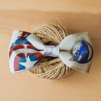 Галстук-бабочка Капитан Америка