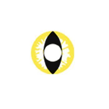 Линзы кошачий глаз желтые F-54