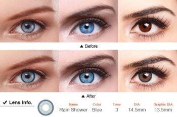 Линзы синие Rain Shower