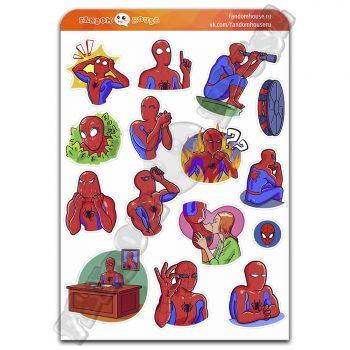 Стикеры Человек паук Spider-Man (Fandom House)