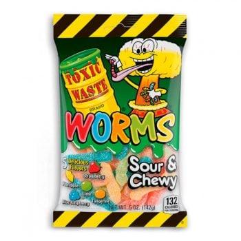 Кислый мармелад Toxic Waste Sour Worms 142 гр.