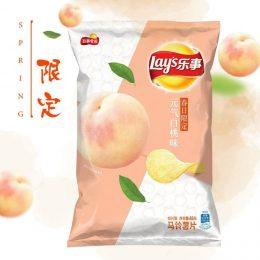 Чипсы Lays со вкусом персика, 65 г.