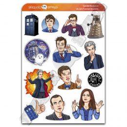 Стикеры Доктор Кто Doctor Who (Fandom House)