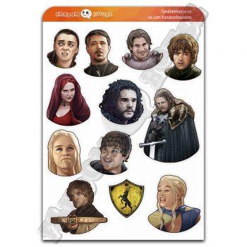 Стикеры Игра Престолов Game of Thrones (Fandom House)