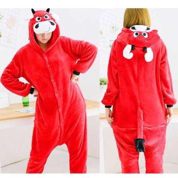 Пижама Кигуруми - Бык Красный